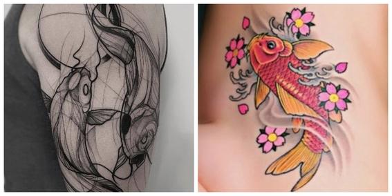 tatuajes de peces koi y su significado 6