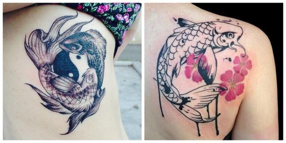 tatuajes de peces koi y su significado 15