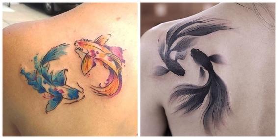 tatuajes de peces koi y su significado 16