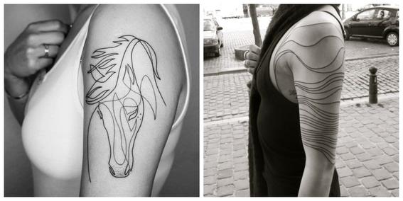 tatuajes line art composicion de lineas 2