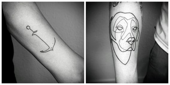 tatuajes line art composicion de lineas 8