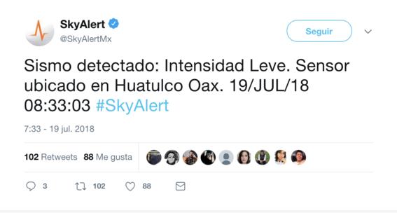 se registra sismo 19 de julio 2