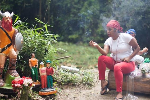 fotografias de un ritual de santeria en venezuela 2
