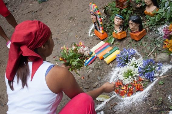 fotografias de un ritual de santeria en venezuela 4