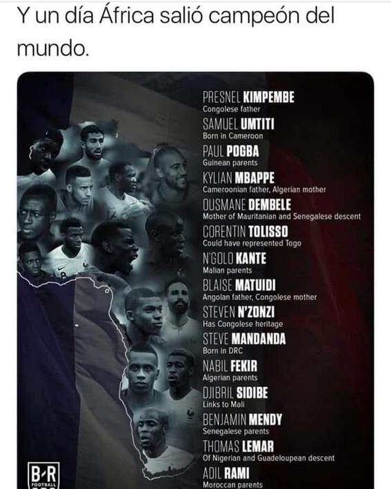 el racismo que acusa a la seleccion francesa de ser africa 4