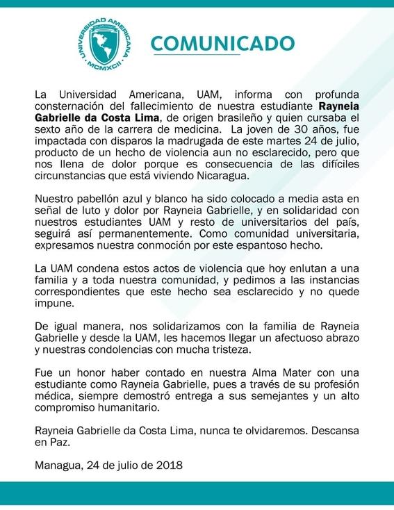 matan a la doctora rayneia lima en nicaragua 2