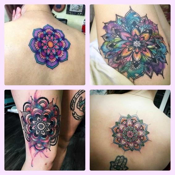 el significado de los mandalas y disenos de tatuajes 5