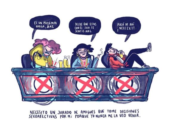 ilustraciones de chinaocho sobre sufrimiento amoroso 5