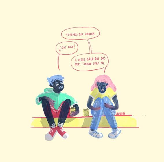 ilustraciones de chinaocho sobre sufrimiento amoroso 12
