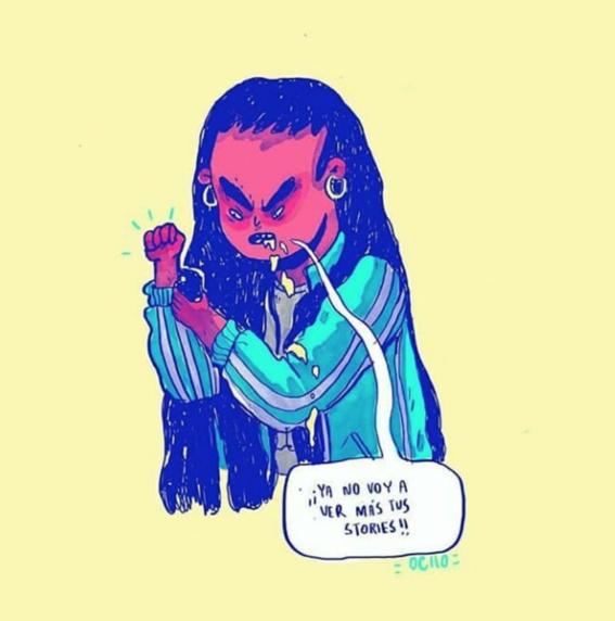 ilustraciones de chinaocho sobre sufrimiento amoroso 17