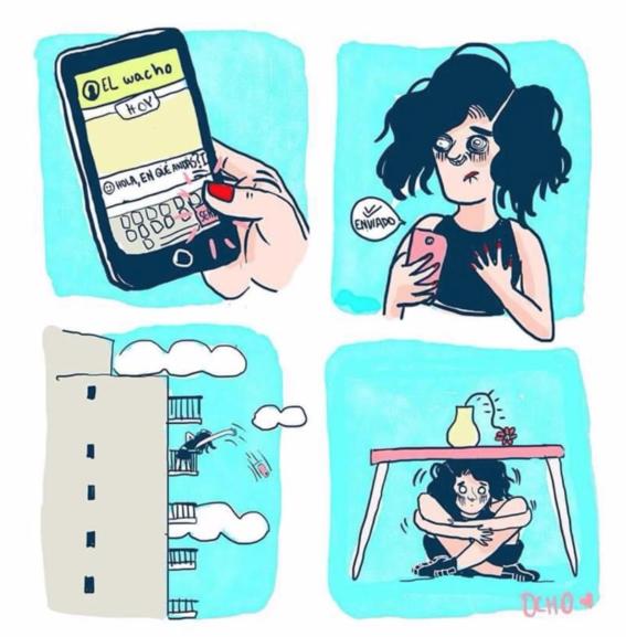 ilustraciones de chinaocho sobre sufrimiento amoroso 20