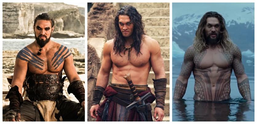 Fotografías del antes y después de la transformación de Jason Momoa 8