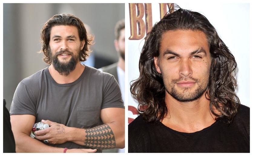 Fotografías del antes y después de la transformación de Jason Momoa 7