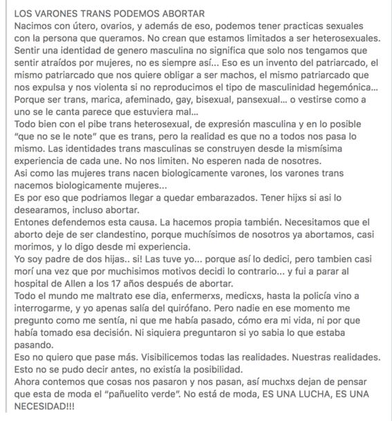 hombres trans exigen legalizacion del aborto en argentina 2