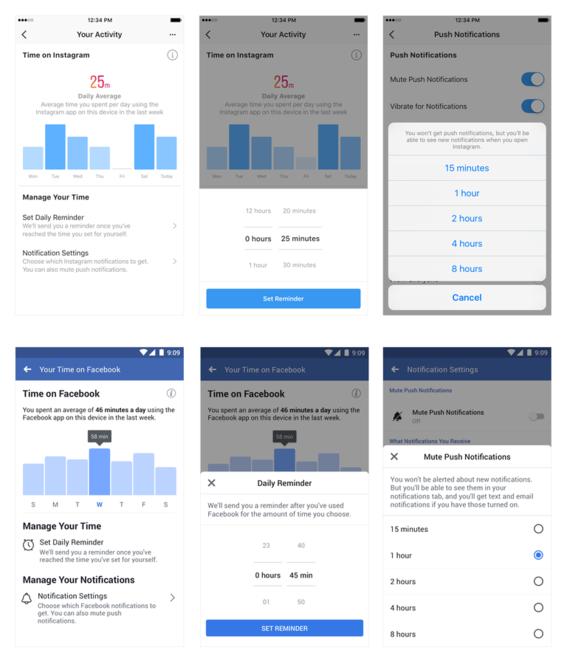 facebook e instagram incluyen herramienta para controlar tiempo de uso 1