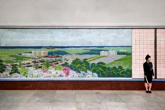 fotografias del metro de pyongyang corea del norte 1