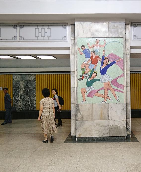 fotografias del metro de pyongyang corea del norte 7