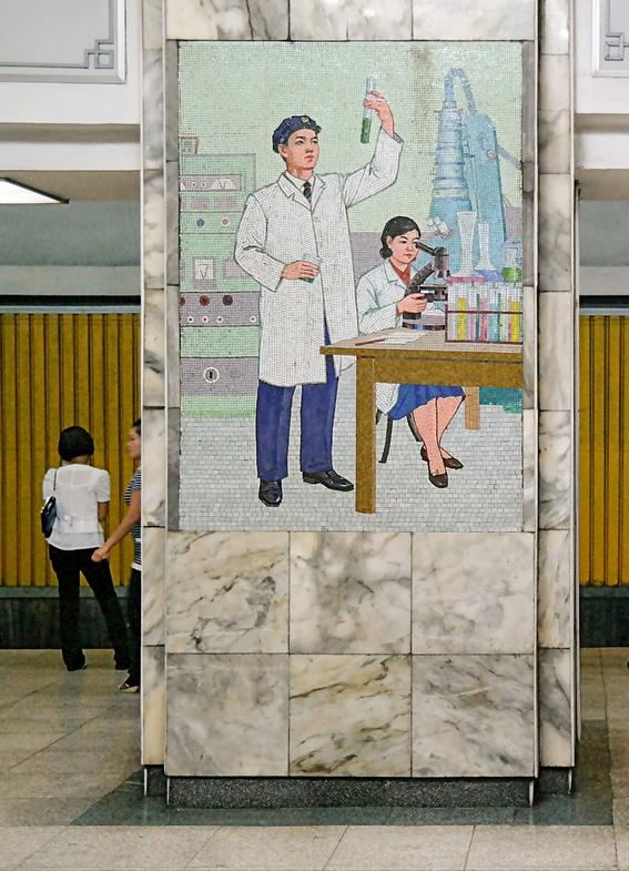 fotografias del metro de pyongyang corea del norte 8