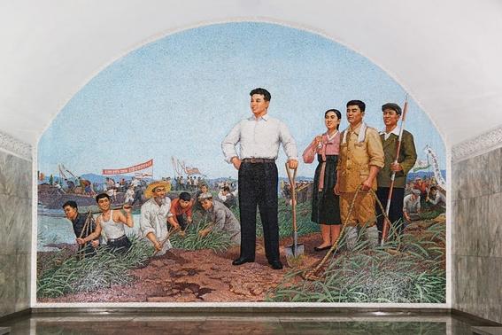 fotografias del metro de pyongyang corea del norte 12