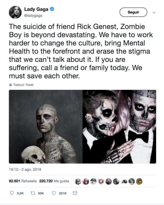 encuentran muerto a zombie boy modelo born this way 1