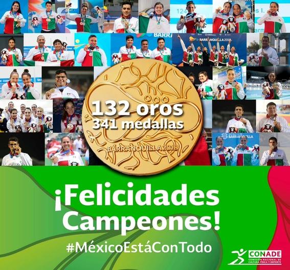 mexico finaliza primero en el medallero de los juegos centroamericanos 1