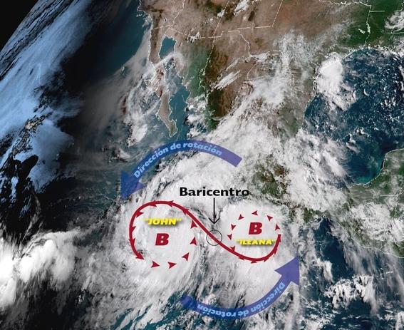 huracan john y tormenta ileana podrian unirse en el pacifico 1