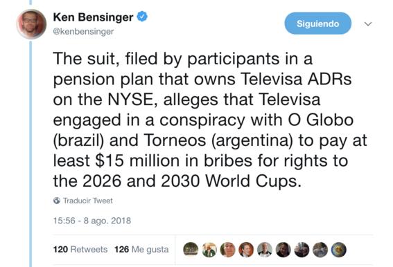 demandan a televisa por sobornos millonarios para tener el mundial 3