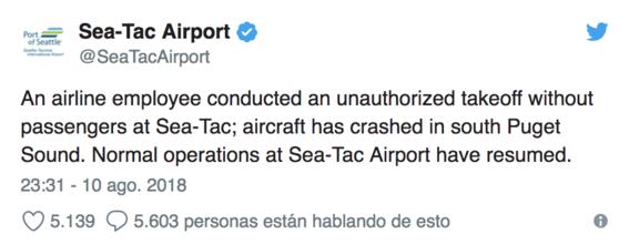 hombre roba un avion y lo estrella en seattle estados unidos 1