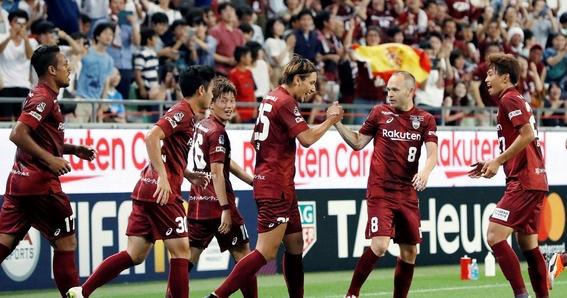 primer gol de iniesta en la liga de japon 1