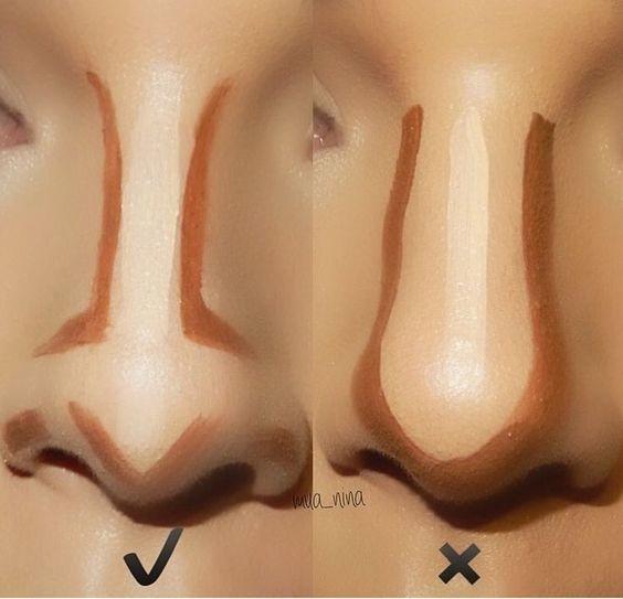 como adelgazar la nariz con maquillaje 3