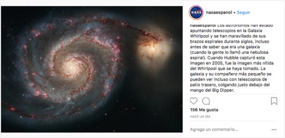 telescopio hubble nasa capta galaxia remolino 2