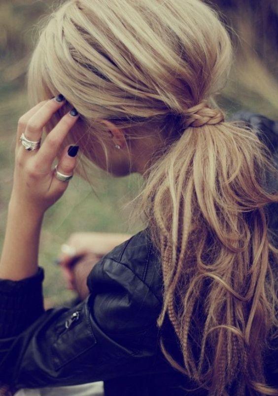 peinados para cabello esponjado 8