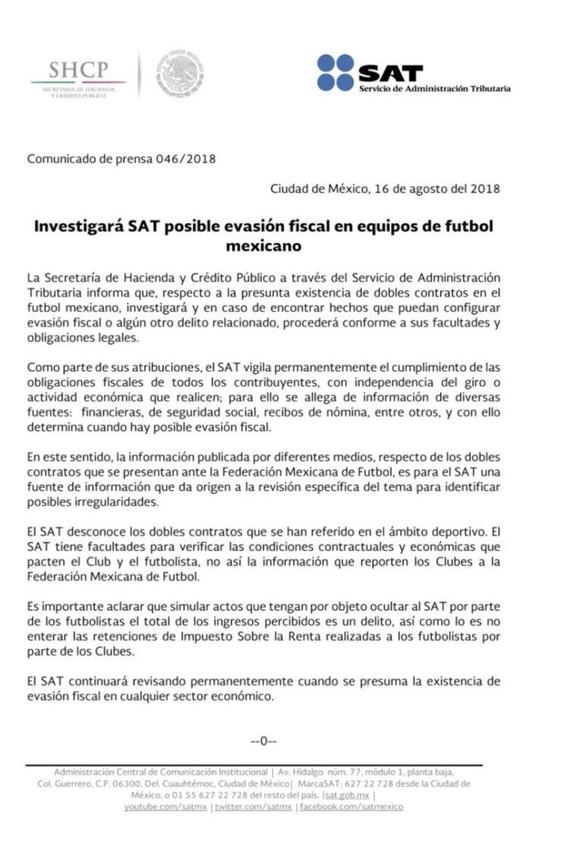 el sat investiga los dobles contratos en el futbol mexicano 5