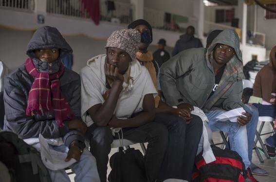 fotos de los haitianos en tijuana 2