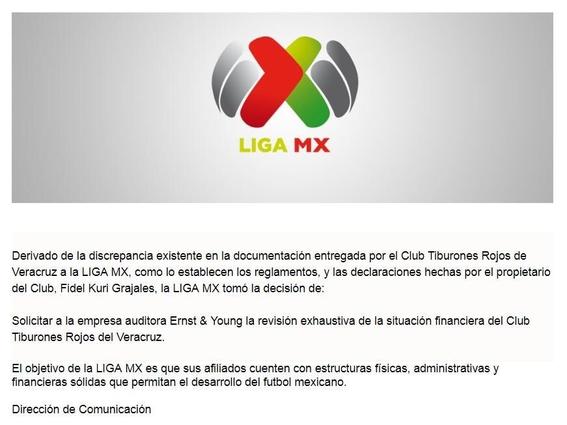 la liga mx ordena auditoria al veracruz por el caso de dobles contratos 2