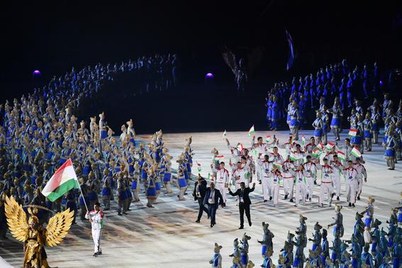 dos coreas desfilan juntas en apertura de juegos asiaticos 1