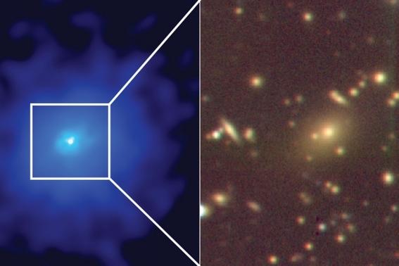 descubren galaxias alrededor de agujero negro supermasivo 1