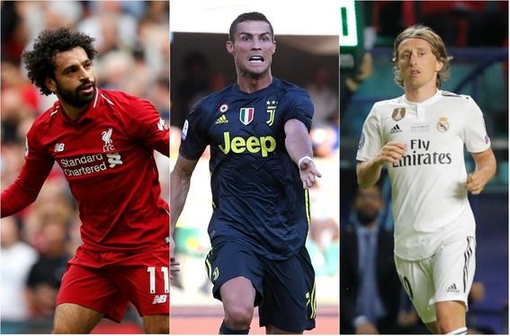 nominados a mejor jugador del ano de la uefa 1