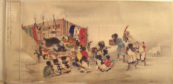 ritual ainu japones de amamantar a los osos 4