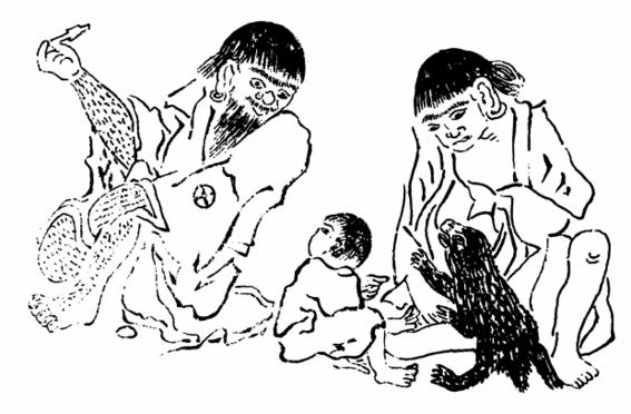 ritual ainu japones de amamantar a los osos 3