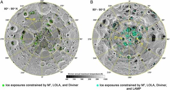 nasa descubre hielo en la luna 1
