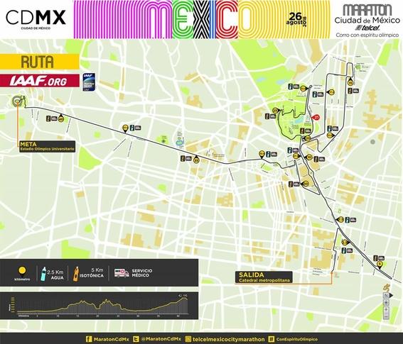calles que cerraran por el maraton de la cdmx 2