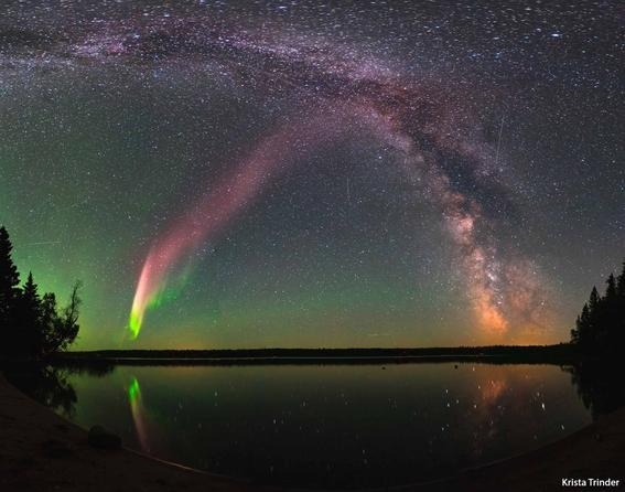 steve fenomeno optico que parece aurora morada 2