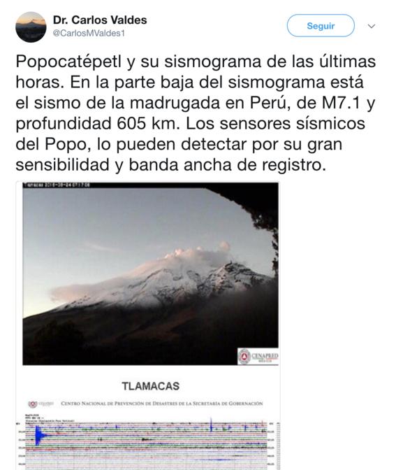 terremoto en peru se sintio en el popocatepetl 2
