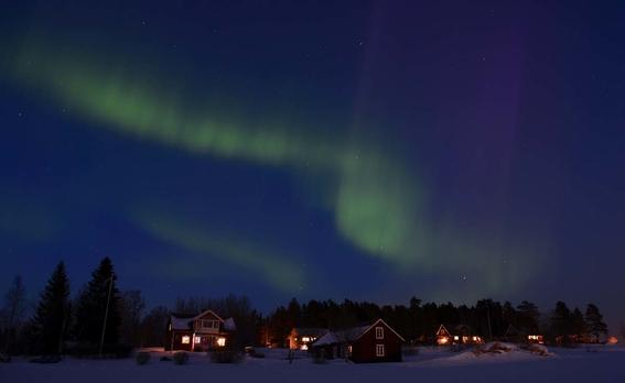 auroras boreales en suecia 1