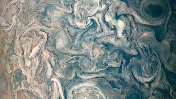 juno muestra imagenes de la atmosfera de jupiter 3