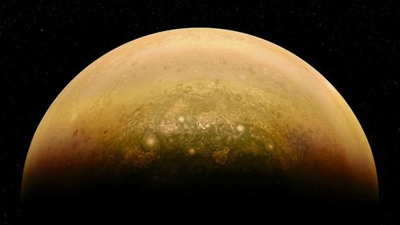 juno muestra imagenes de la atmosfera de jupiter 2