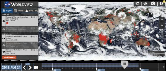 imagen de la nasa muestra incendios del mundo 3