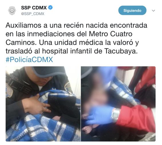 abandonan a bebe recien nacida en metro toreo 1