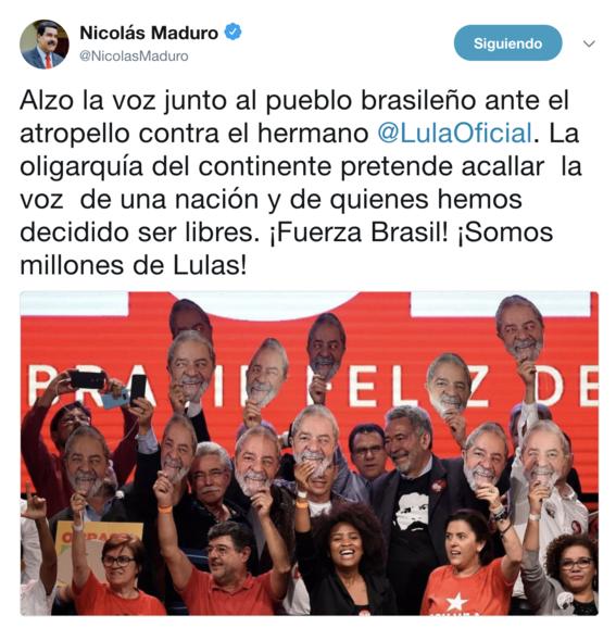 cuba y venezuela dan apoyo a lula da silva 1